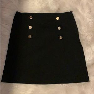INC black skirt with Gold detail